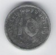 Germany 10 Pfennig 1947 A Zinc Allied Occupation Issue Coin, UNC - Albanie