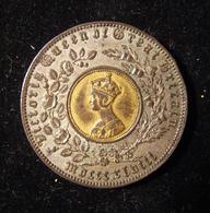 British Bimetallic Model Crown Token/Toy Money By Hyam Hyams & Joseph Moore 1848 - Albanie