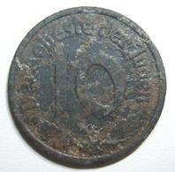 WWII Holocaust Poland Litzmannstadt Lodz Ghetto 10 Pfennig 1942 Type1 Mg Coin VF - Albanie