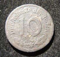 WWII Holocaust Poland Litzmannstadt Lodz Ghetto 10 Pfennig 1942 Type1 Mg Coin EF - Albanie