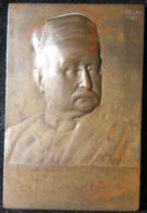 Hungarian Bela Toth Bronze Judaica Plaque, 1907 By Istvan (Stephan) Csillag - Belgique
