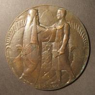 Netherlands San Remo Conference Large Bronze Zionist Medal, 1920 By Van Der Hoef - Allemagne