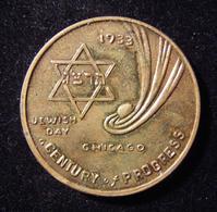 American Jewish Day -Century Of Progress Exhibition Judaica Medal, 1933 By Carmi - Allemagne