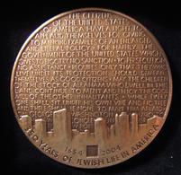American Judaic 350th Anniversary Of Jewish Life Medal By Israeli Dana Krinsky - Allemagne