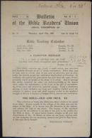 Holocaust Era Orthodox Jewish Bulletin Of The Bible Readers Union Periodical 1941 - Judaisme