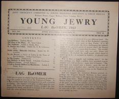 British Holocaust Era Orthodox Jewish Young Jewry Evacuee's Periodical #21, 1943 - Judaisme