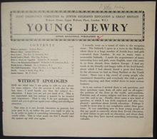 British Holocaust Era Orthodox Jewish Young Jewry Evacuee's Periodical #36, 1943 - Judaisme