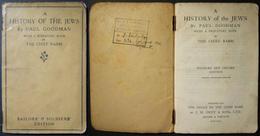 WWI Jewish History Book By Paul Goodman For British Jewish Soldiers/sailors 1918 - Judaisme