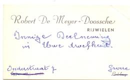 Visitekaartje - Carte Visite - Rijwielen Robert De Meyer - Doosche - Gavere - Cartes De Visite