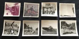 57 DIEUZE - PHOTO - Lot De 8 Photos - Caserne De Parachutistes - Char Helicoptere Interieur De Chambre - Moselle - Dieuze
