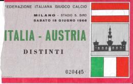 Biglietto ITALIA-AUSTRIA 1966 - Sport