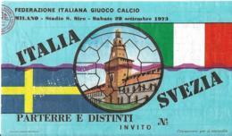 Biglietto ITALIA-SVEZIA 1973 - Sport