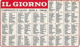 Calendarietto Campionato Di CALCIO 1988-1989 IL GIORNO GULLIT - Sport
