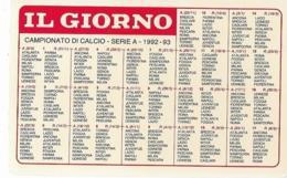 Calendarietto Campionato Di CALCIO 1992-1993 IL GIORNO VAN BASTEN - Sport