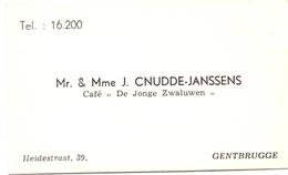 Visitekaartje - Carte Visite - Mr & Mme J. Cnudde - Janssens - Gentbrugge - Cartes De Visite