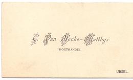 Visitekaartje - Carte Visite - Houthandel C. Van Hecke - Matthys - Ursel - Cartes De Visite