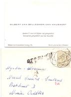 Visitekaartje - Carte Visite - Gilbert Van Belleghem - Van Hauwaert - Sint Joris Ten Distel + Enveloppe - Cartes De Visite