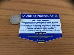 """Carte """"JAUGE DE PROFONDEUR - ETAT DES PNEUS - Norauto"""" - Technical"""