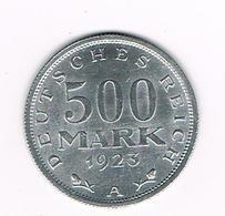 -&  WEIMAR REPUBLIC  500  MARK  1923 A - [ 3] 1918-1933 : Republique De Weimar