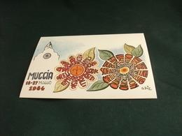 MUGGIA 1984 CHIESA FANTASIA ILL. G. DUIZ 4° ESPOSIZIONE CARTOLINA - Esposizioni