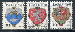 Y85 CZECHOSLOVAKIA 1986 2850-2852 Coat Of Arms Of Czech Cities. Heraldry - Timbres