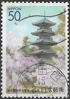 JAPAN (OKAYAMA PREFECTURE) 2002 Pagoda, Bicchu-Kokubunji Temple - 50y - Multicoloured FU - Oblitérés