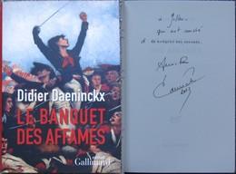 Daeninckx - Le Banquet Des Affamés - Livre / Roman Avec  Envoi / Dedicace Autographe - Livres Dédicacés