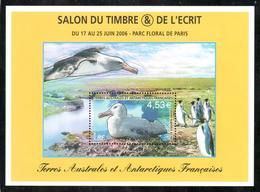 TAAF - 2006 - BF Salon Du Timbre, Parc Floral De Paris - Grand Albatros Au Nid ** - Blocs-feuillets