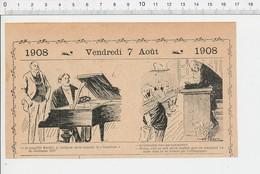 2 Scans Humour Musique Piano Guillaume Tell De Rossini Cancre école écolier Orthographe Synonyme 213/5B - Vieux Papiers