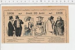 2 Scans Humour Cure De Lait être En Nourrice Métier Brocanteur Objets De Musée Construction Maison Water-closet WC213/5B - Old Paper