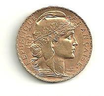 20 F Or COQ 1907 - France