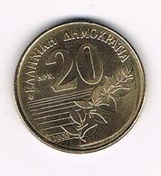 -&  GRIEKENLAND  20 DRACHMES  2000 - Grèce