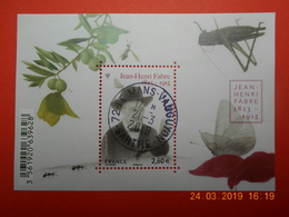 FRANCE 2015 YTN°4980  FEUILLET JEAN-HENRI FABRE ( 1823-1915)  Timbre Neuf Oblitéré Cachet Rond - Used Stamps