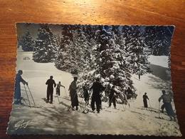 73 Savoie, Sommet Du Plateau Du Mont Revard En Hiver, A Voyagé En 195?, Flamme D'Aix-les-Bains, Ski, Neige - Aix Les Bains