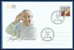 VATICANO VATICAN 2019 FDC POPE FRANCIS ANGELUS AUDIENCE IN S. PETER 24.03.19 ANGELUS PIAZZA SAN PIETRO - Storia Postale