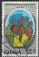 Ghana 1989 Oblitéré Used Solidarité 25 Ans De OAU Organisation De L'Unité Africaine - Ghana (1957-...)