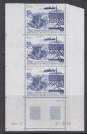 TAAF 1987 Forage Oceanique O.D.R. 1v  Strip Of 3 (printing Date) ** Mnh (TA208B) - Ongebruikt