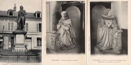 CPA 60 Oise Liancourt Statue Jeanne Schomberg Roger Duplessis La Rochefoucauld - Liancourt