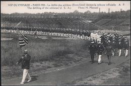 75 . PARIS - VIII Olympiade 1924 - Le Defile Des Athletes - Etats Unis - Devant Les Tribunes Officielle - Giochi Olimpici