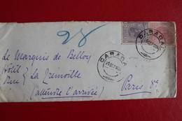 1905      ENVELOPPE    COMPLETE  DE  CARACAL  POUR  LA  FRANCE      2   PHOTOS - 1881-1918: Charles Ier