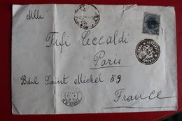 1919      ENVELOPPE    COMPLETE  DE  BUCAREST  POUR  LA  FRANCE      CACHET  DE  CENSURE  MILITAIRE - 1881-1918: Charles Ier
