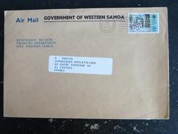 LETTRE SAMOA AVEC YT 447 ANNEE INTERNATIONALE DE L ENFANT - DIMANCHE BLANC - DENT COURTE COIN SUPERIEUR DROIT - Samoa