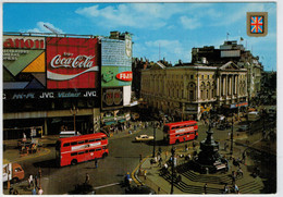LONDON   PICCADILLY   CIRCUS  AND  STATUE  OF  EROS                 (VIAGGIATA) - Piccadilly Circus