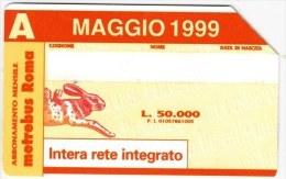 SCHEDA TELEFONICA USATA 999 BIS MAGGIO 1999 - Italia