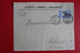 1907      ENVELOPPE    COMPLETE  DE  BRAILA  POUR   MULHOUSE   ALSACE  OCCUPEE - 1881-1918: Charles I