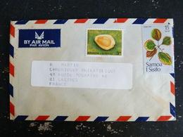 LETTRE SAMOA AVEC YT 415 ET 503 - COQUILLAGE NOEL FLEUR - Samoa