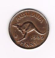 -&  AUSTRALIE  1 PENNY   KANGOEROE 1949  GEORGIUS VI - Monnaie Pré-décimale (1910-1965)