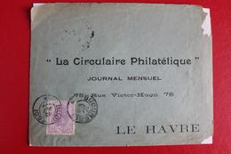 1899       ENVELOPPE      COMPLETE  DE  BUCAREST     POUR   LE  HAVRE - 1881-1918: Charles Ier