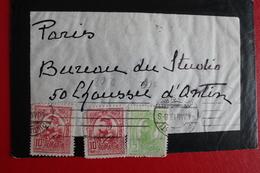 1913       ENVELOPPE      COMPLETE  DE  BUCAREST     POUR   PARIS - 1881-1918: Charles Ier