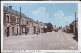 37 . NOYANT EN TOURAINE - Avenue De La Gare - Pompe Essence - Autres Communes